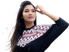 Sharanya Sundaraj in black dress