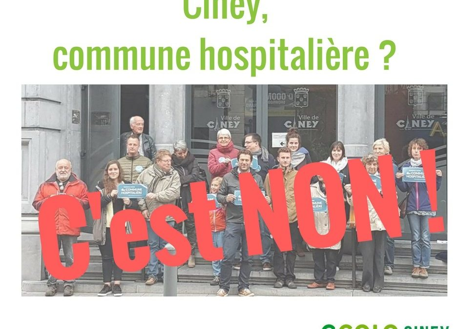 Commune hospitalière, c'est non !