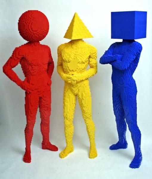 Hombes hechos en Lego