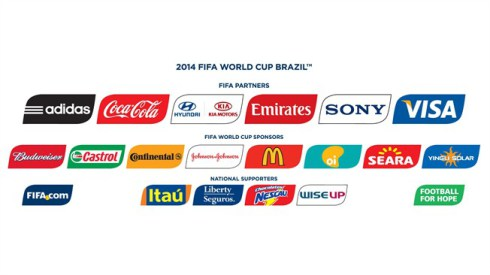 Patrocinadores del Mundial Brasil 2014