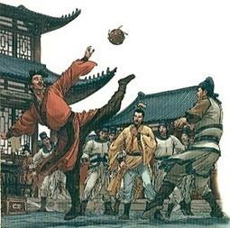En China jugaban fútbol