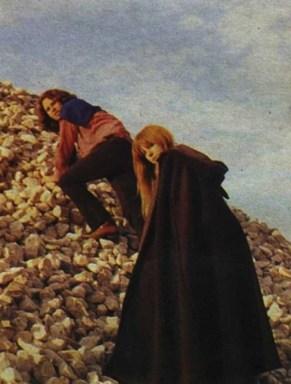 Pamela Courson y Jim Morrison juntos