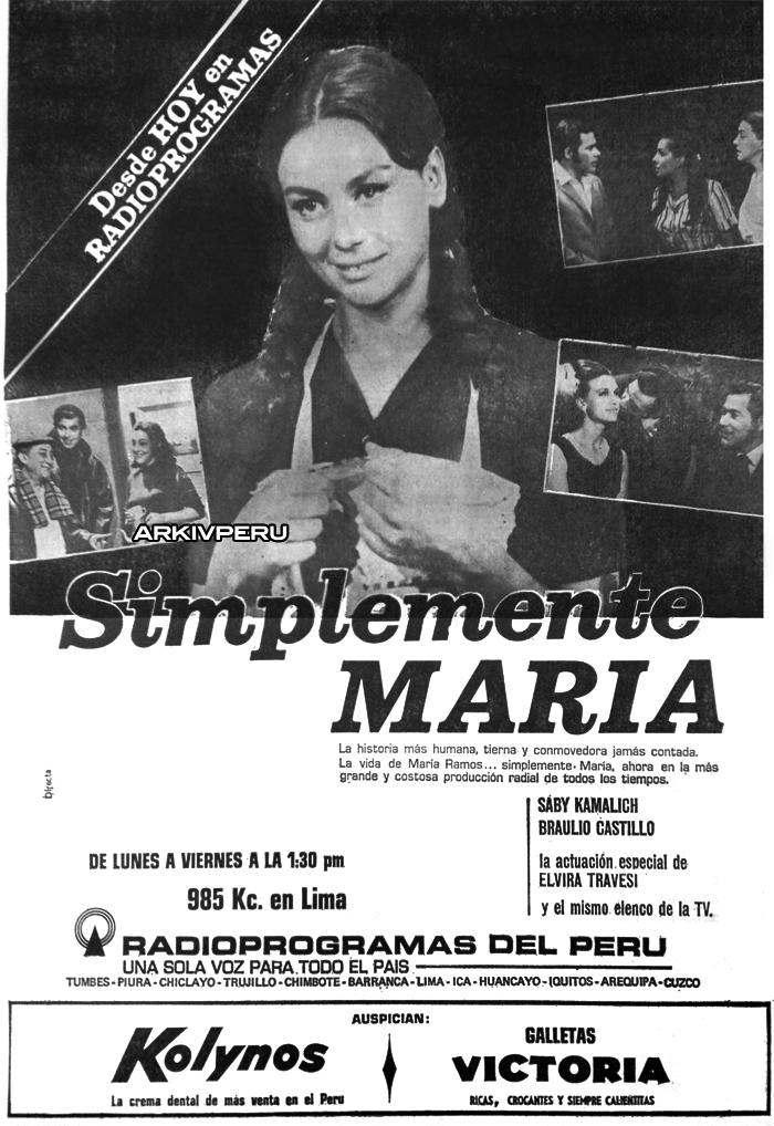 Simplemente María novela peruana