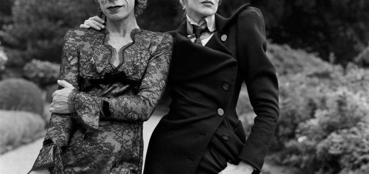 Mick Jagger vestido de mujer