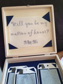 in late june '14 we made these for bridesmaids