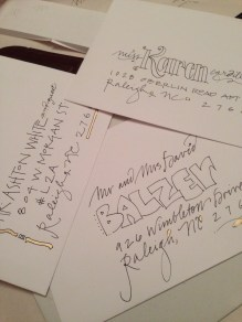 example of wedding invitations; it was a saturday project (and sunday)