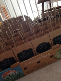 hanna & mike filled goody bags for all hotel guests; my trusty silver pen on the black labels was like writing on silk