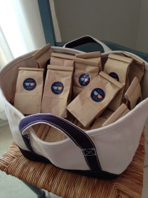 another idea of hanna's - give packs of ground coffee to all wedding guests