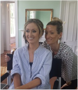 Hanna with the makeup and hair stylist. She was very good!