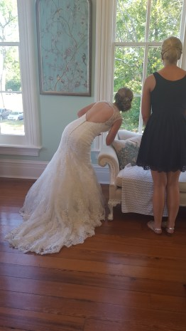 I love this. Watching guests arrive. Photo courtesy of Elyse Phillips.