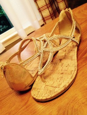 a girl needs a second pair of shoes at a wedding, especially silver and gold; i popped these on after the first hour