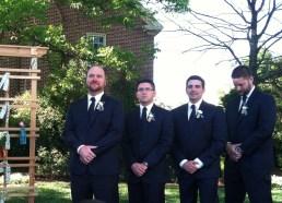 (L to R) best man rock, groomsmen matt, ryan, david