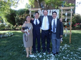 my brother billy with his wife tiemi, and their twins mike & jay photo courtesy of karen kleinhans