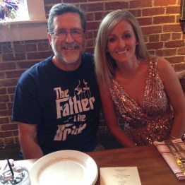 hanna and the proud father of the bride