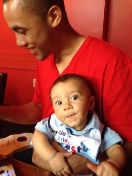 sam and tripp @ rehearsal dinner - this little guy was a gem
