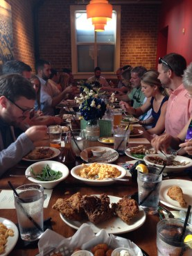 family style dinner for the rehearsal dinner, hosted by karen calvo at The Pit