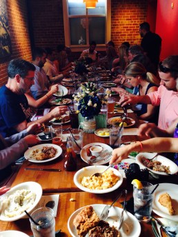 rehearsal dinner at the Pit BBQ restaurant in raleigh