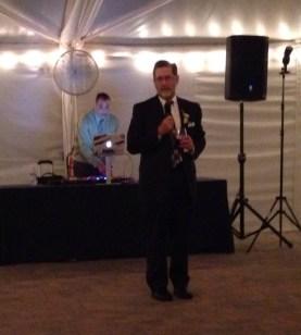 dad of bride giving his toast