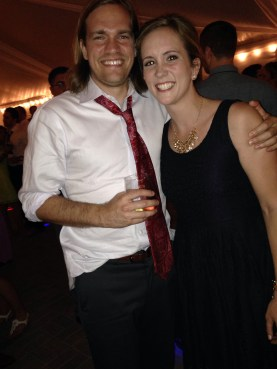 bridesmaid liz and her brother chris