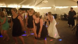 Bridal party didn't miss a dance! Photo courtesy of Zach Ivie