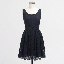 jcrew summer dress in navy was the choice for bride's attendants' dresses