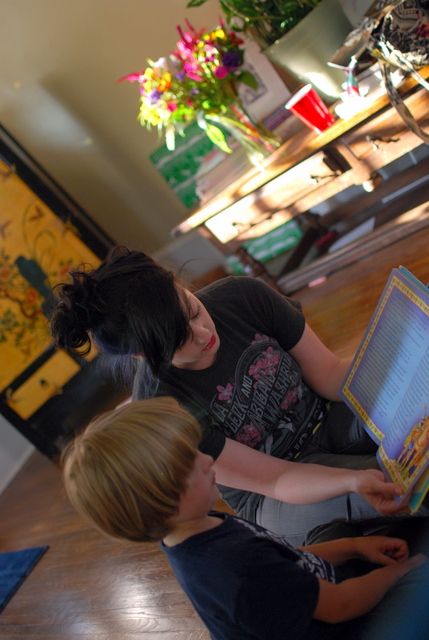Reading with Aunt Jenica