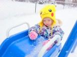Backyard snowslide