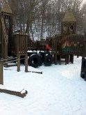 Imagination Station Playground in the snow