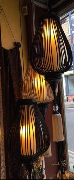 Rattan and silk lanterns