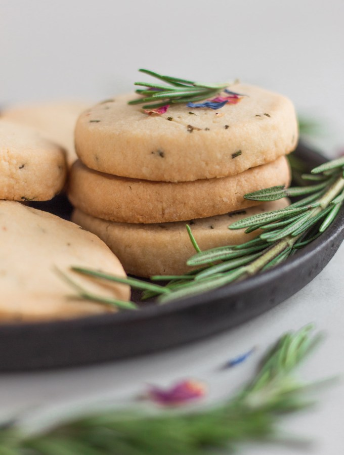 Rosemary Almond Shortbread Cookies Gluten-Free