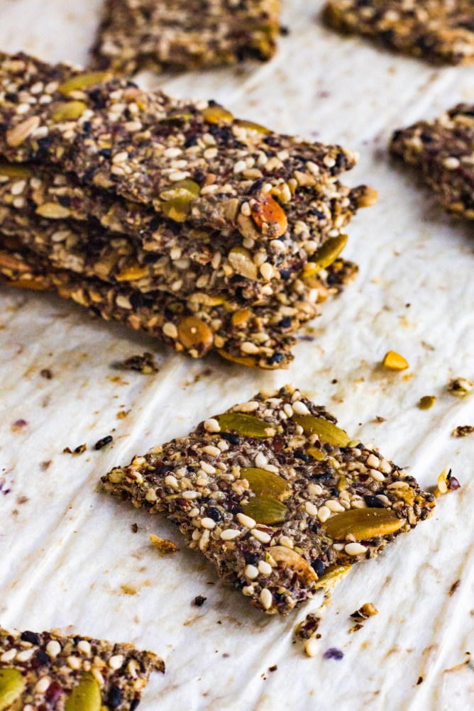 Super Healthy Multi-Seed Crackers
