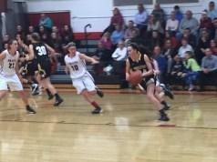 defensive effort, Quakers, Pirates, girl's basketball