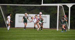 girl's soccer versus Moorestown