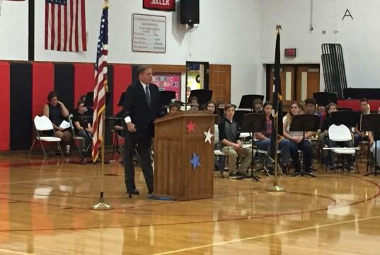 CMS veterans ceremony