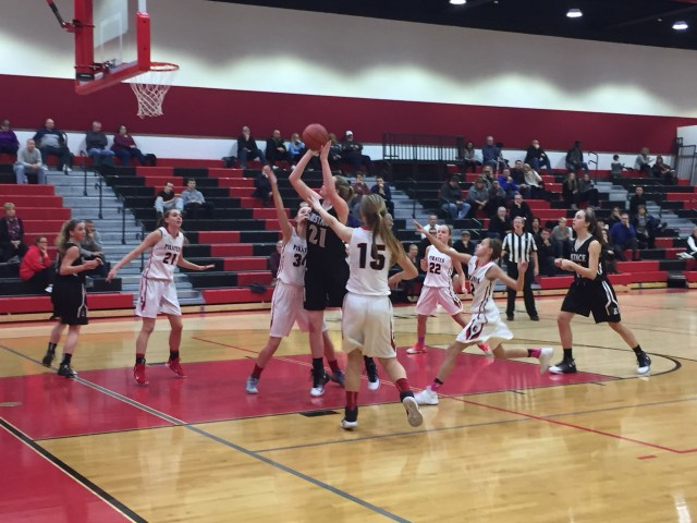 girl's basketball Eustace loss SJIBT