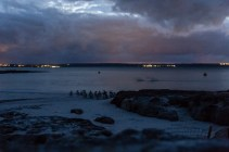 Long exposure photo from the penguin arrivals at the beach