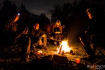 Campfire with tons of food