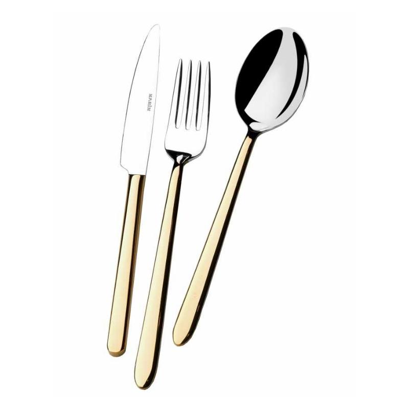 Pladies Altın Çatal Kaşık Bıçak