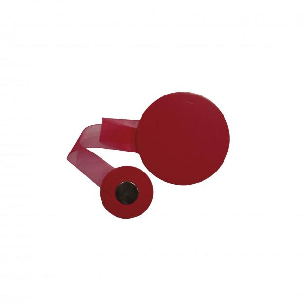 details circle magnetic curtain tieback fuchsia 1 pc