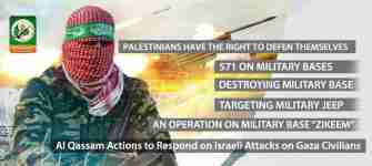 al-Qassam graphic: resistance actions in past 4 days - from 11 July