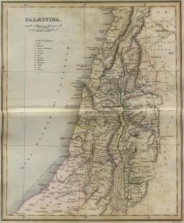 1849 Map of Palestine - A Classical Atlas - ancient geography by Alexander G Findlay