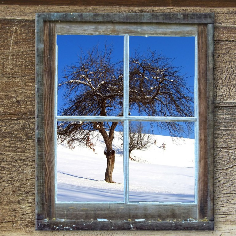 Winter Window, Hut in Winter