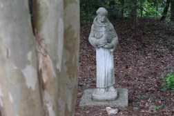 Statue in the shade garden.