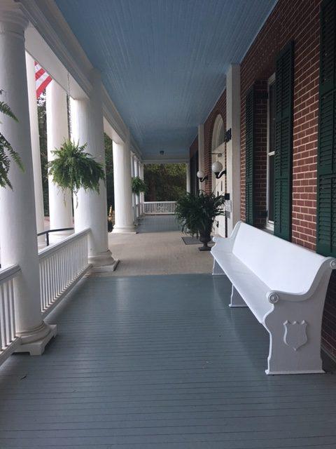 front porch, a perfect spot for a 7 p.m. walk/sit