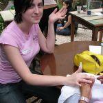 Tinha até manicure! Foto da Charô