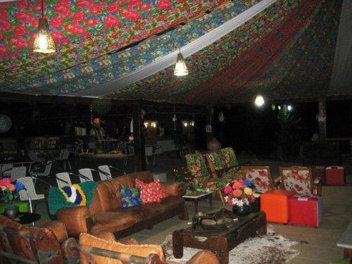 Decoração do teto com chita