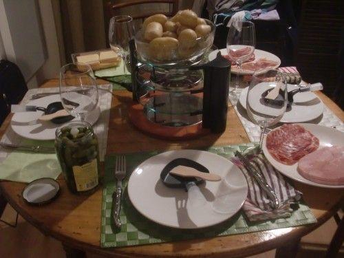 Mesa para raclette