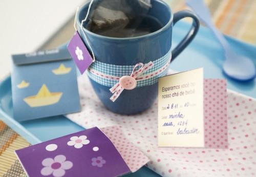 Convite de chá de bebê para fazer em casa.