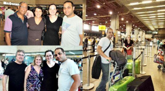 Despedida no aeroporto de Guarulhos