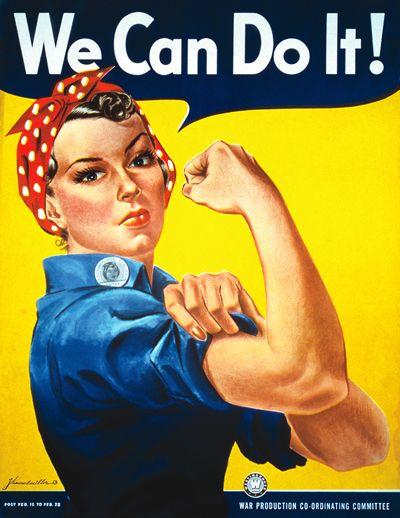 "Clássico poster feminista ""We Can Do It! Rosie the Riveter"" de  J. Howard Miller"